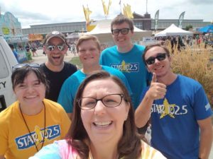 Myself with coworkers at the State Fair in preparation for Star 102.5's State Fair Scramble