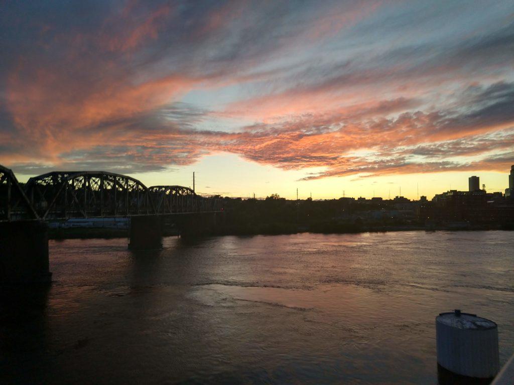 Missouri River at Sunset