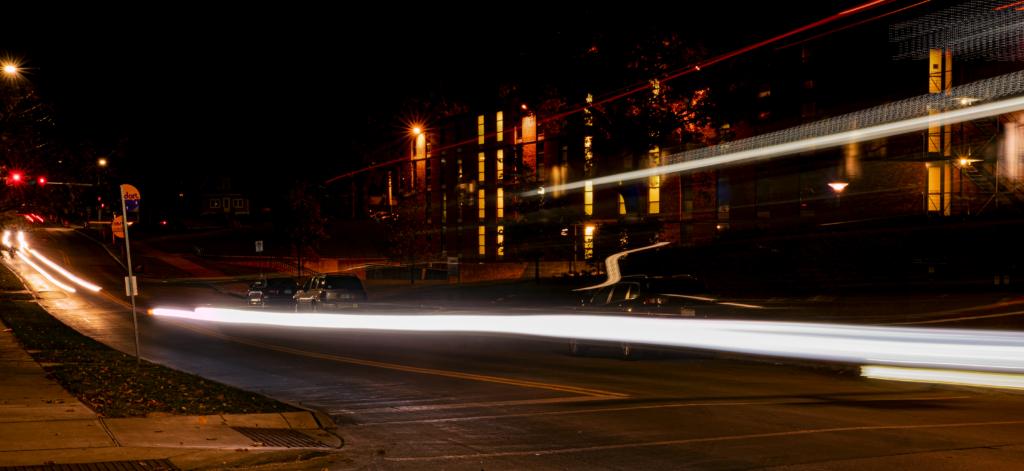 Bus Moving at Night